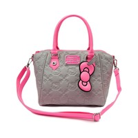 Hello Kitty Embossed Handbag, Grey Neon | Journeys Shoes