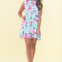 It's The Right Time Floral Dress
