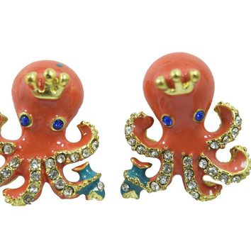 Cute Kawaii Whimsical Octopus Earrings