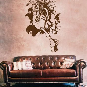 ik681 Wall Decal Sticker head horse nag pet stallion thoroughbred horse bedroom