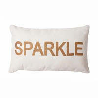 Sparkle Glitter Pillow - Gold