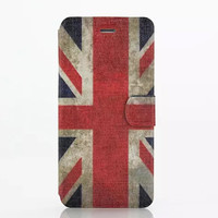 United Kingdom Flag Leather Case Cover for iPhone 6S 6 Plus Samsung Galaxy S6