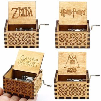30 Styles Hand Crank Wood Music Box  Game Of Thrones RainBow Castle Inthe Sky For Christmas Gift New Year Gift