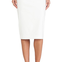 Minty Meets Munt Pencil Skirt in White