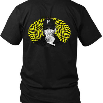 Bryson Tiller Holographic Yellow 2 Sided Black Mens T Shirt
