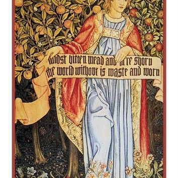 William Morris Summer Medieval Maiden Counted Cross Stitch or Counted Needlepoint Pattern