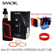 100% Original Smok Alien Kit with 3ml TFV8 Baby Tank Electronic Cigarette Vape Kit Alien 220W Box Mod