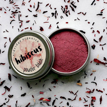 Organic Hibiscus Powder Blush - Organic Makeup - Organic Cosmetics - Vegan Blush