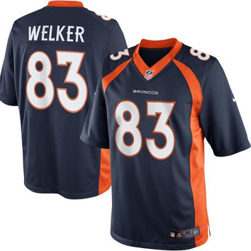 Wes Welker Denver Broncos Nike Alternate Limited Jersey - Navy Blue