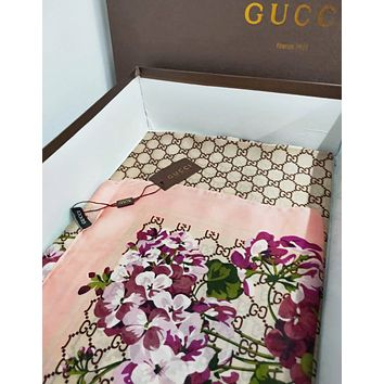 GUCCI Fashion Women Silk Scarf Cape Scarves Shawl Accessories