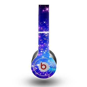 The Glowing Pink & Blue Starry Orbit Skin for the Beats by Dre Original Solo-Solo HD Headphones