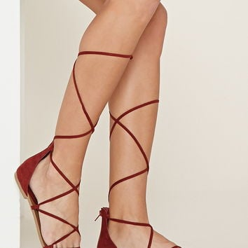 Lace-Up Sandals | Forever 21 - 2000176358