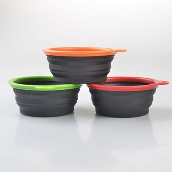 New Pet Travel Bowls Silicone Pet Food Bowl Foldable And Portable