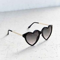 Cara Heart Frame Sunglasses- Black One