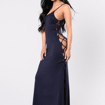 You Deserve It All Dress - Navy