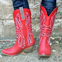 Very Volatile Red Cowboy Boots