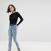 Pull&Bear Cropped Black Sweater at asos.com