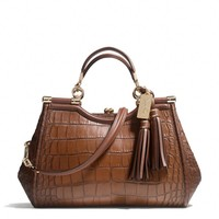 Coach :: New Madison Carrie In Croc Embossed Leather