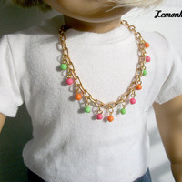 Gold Helloberry Inspired necklaces for American Girl Dolls Choose a Color from Lemonhead103
