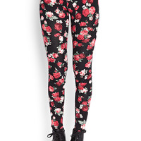 Soft Knit Floral Leggings