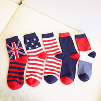 Men Wool Winter Thicken England Style Socks [9259023364]