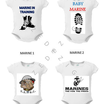 "Military, Baby, Onsie, Toddler Tee, Free Shipping,  ""ARMED FORCES "", White,Graphic Design, Monogram, Personalized, Custom , Baby Shower"