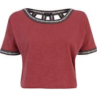 Red cut out back western crop top - crop t-shirts - t shirts / tanks / sweats - women