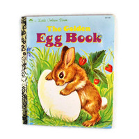 Vintage 1975 The Golden Egg Book by Margaret Wise Brown, A Little Golden Book For Children About a Bunny Rabbit