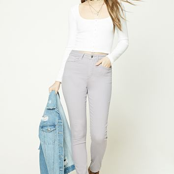 High-Rise Skinny Pants