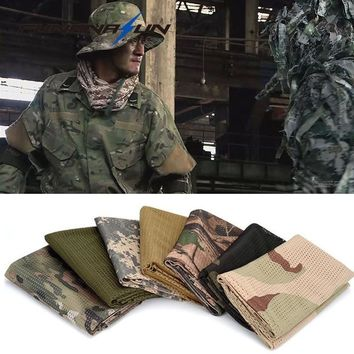 Military Camouflage Scarf Camping Neck Wraps Balaclava Scarf Face Veil Mask Neckerchief Scarf For Hunting Shooting Airsoft