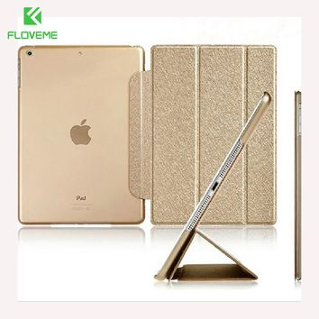 FLOVEME Luxury Leather Case For iPad Mini 1 2 3 4 Case Slim Clear Transparent Smart Back Cover for iPad Mini 1 2 3 4 Protector