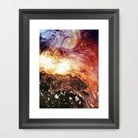 Galaxy Framed Art Print by Erin Jordan | Society6