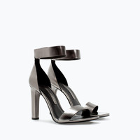 High heeled ankle strap sandal
