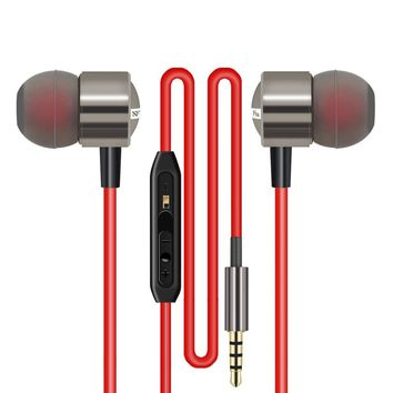 Earphones Super bass Earphone Universal 3.5music Metal Headset with Microphone for xiaomi Mobile Phone Amazing sound