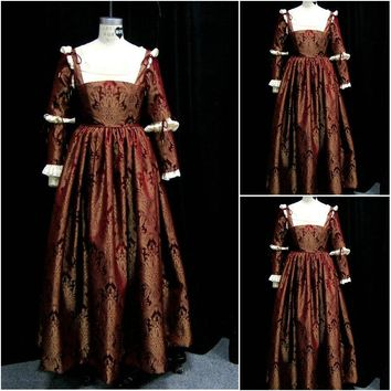 History!Customer-made Luxs  Vintage Costumes Renaissance Dresses Steampunk dress Gothic Cosplay Halloween Dresses C-1170