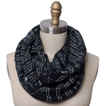 Black Beauty Book Scarf