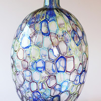 Multi Colored Occhi Murrine Vase by Nanda Soderberg (Art Glass Vase) | Artful Home