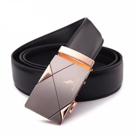 Genuine Leather belts High quality metal automatic buckle Strap