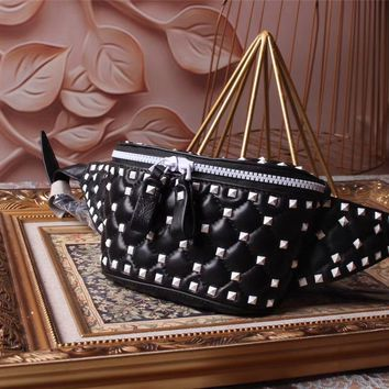 VALENTINO GARAVANI FREE ROCKSTUD SPIKE LEATHER WAIST PACK BAG