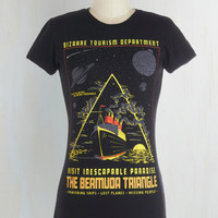 Sci-fi Mid-length Short Sleeves Endless Vacation Tee