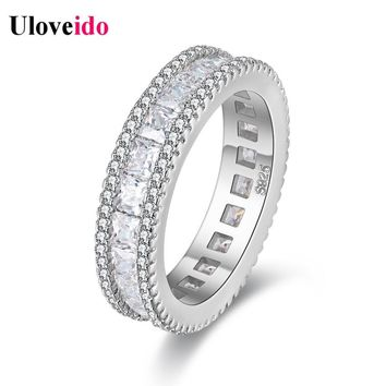 5% Off 2017 Uloveido Crystal Wedding Rings for Women Jewelry Vintage Women's Zircon Ring Bague Femme Aneis Anelli Ringen PJ4279