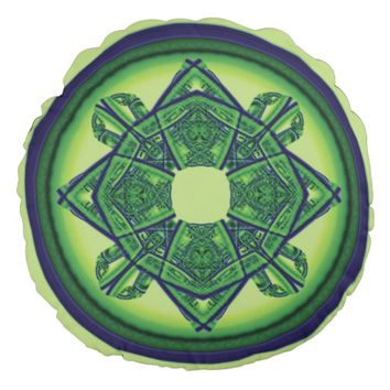 Sacred Geometry Round Pillow