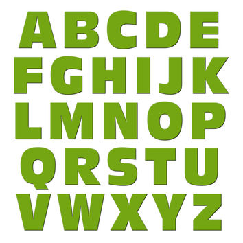 Alphabet Letters Uppercase Green MAG-NEATO'S TM Refrigerator Magnet Set