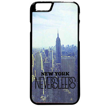 Blue Manhattan Never Sleeps For iPhone 6 Plus Case **