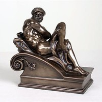 Day Statue by Michelangelo Bronze FInish 7.75L