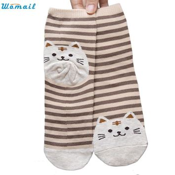 Kitty Stripes Pattern Socks