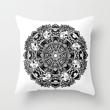 Buddha Mandala Throw Pillow by brittbolduc