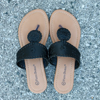 Preppy Sandal – Black
