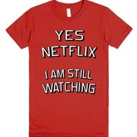Still Watching-Unisex Red T-Shirt