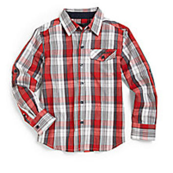 DKNY - Toddler's & Little Boy's Beamer Plaid Shirt - Saks Fifth Avenue Mobile